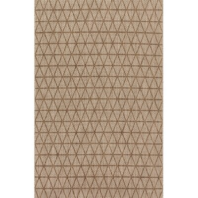 Chino Beige/Mocha Indoor/Outdoor Area Rug Rug Size: Rectangle 92 x 121