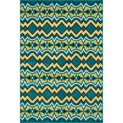 Catalina Blue Indoor/Outdoor Area Rug Rug Size: 52 x 75
