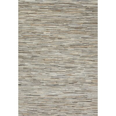 Murtaz Hand-Woven Silver Area Rug Rug Size: Rectangle 5 x 76