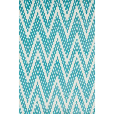 Mazurek Aqua Area Rug Rug Size: Rectangle 5 x 76