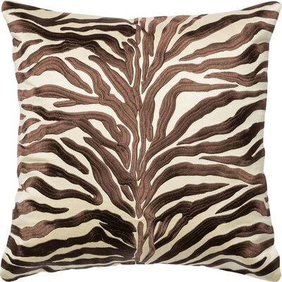 100% Cotton Throw Pillow Color: Brown