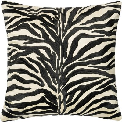 100% Cotton Throw Pillow Color: Black