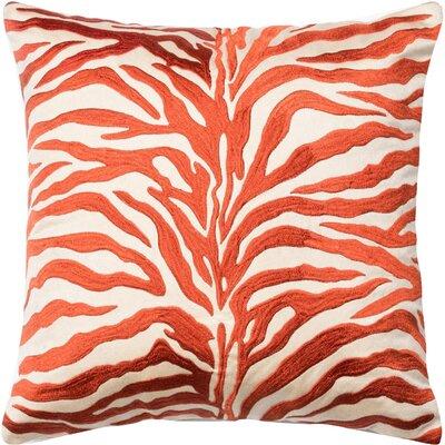 100% Cotton Throw Pillow Color: Rust/Beige