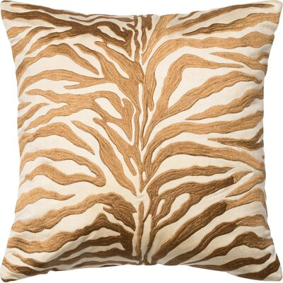 100% Cotton Throw Pillow Color: Bronze