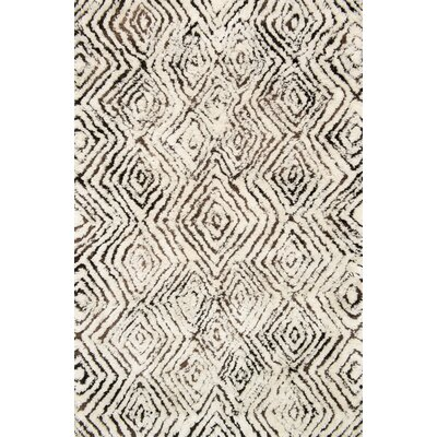 Benson Hand-Tufted Ivory/Granite Area Rug Rug Size: Rectangle 36 x 56