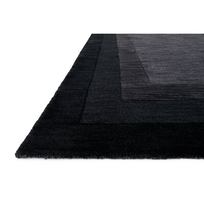 Hamilton Hand-Tufted Black/Gray Area Rug Rug Size: 93 x 13