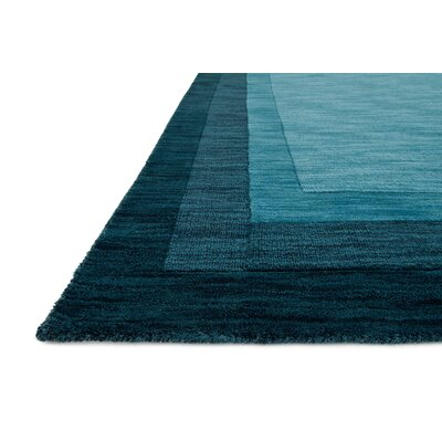 Keifer Hand-Tufted Teal Area Rug Rug Size: Rectangle 93 x 13