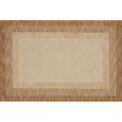 Hamilton Hand-Tufted Beige Area Rug Rug Size: Rectangle 5 x 76