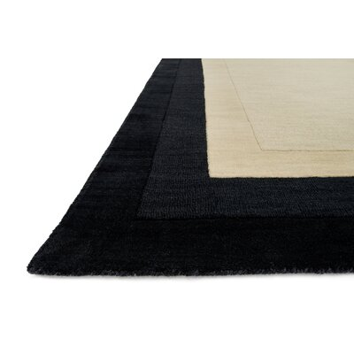 Hamilton Hand-Tufted Beige/Black Area Rug Rug Size: Rectangle 5 x 76