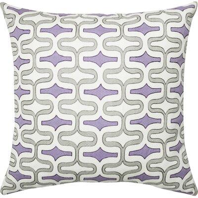 Cotton Throw Pillow Color: Gray/Plum