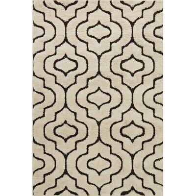 Enchant Beige/Black Area Rug Rug Size: Rectangle 310 x 57