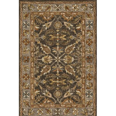 Watertown Wool Gray/Brown Area Rug Rug Size: 23 x 39