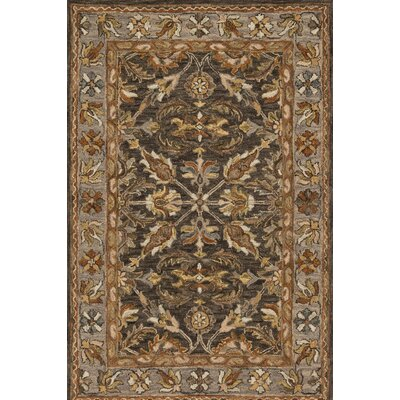 Watertown Wool Gray/Brown Area Rug Rug Size: Rectangle 79 x 99