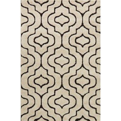 Enchant Beige/Black Area Rug Rug Size: Rectangle 77 x 106