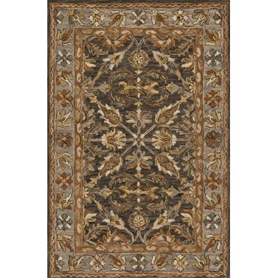 Watertown Wool Gray/Brown Area Rug Rug Size: Rectangle 5 x 76