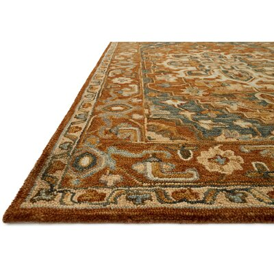 Watertown Wool Brown Area Rug Rug Size: Runner 26 x 76