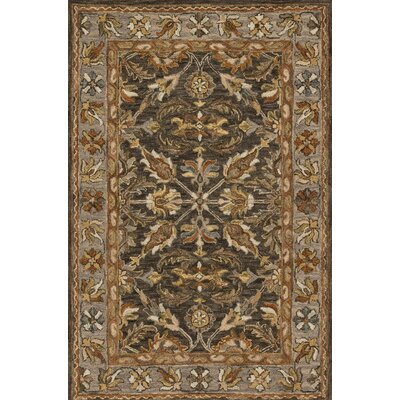 Watertown Wool Gray/Brown Area Rug Rug Size: 36 x 56