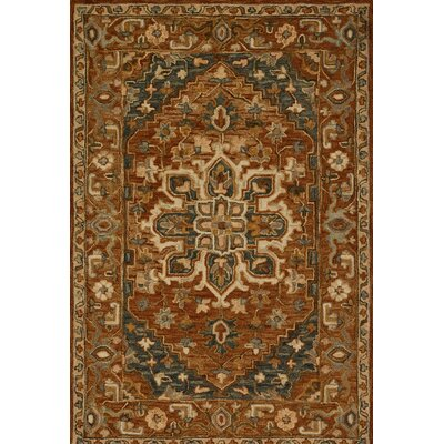 Watertown Wool Brown Area Rug Rug Size: 23 x 39