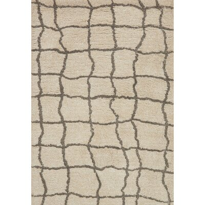 Panek Hand-Tufted Beige Area Rug Rug Size: Rectangle 79 x 99