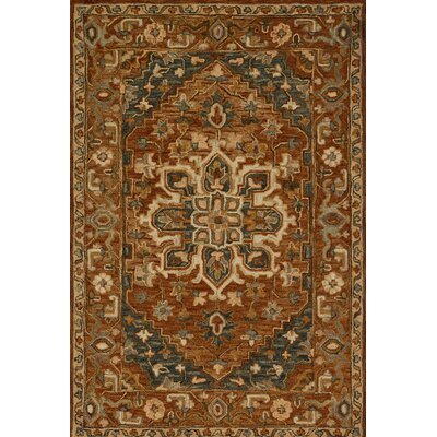 Watertown Wool Brown Area Rug Rug Size: Rectangle 23 x 39
