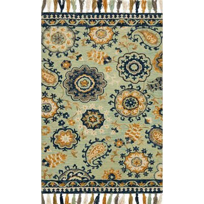 Zambrana Blue Area Rug Rug Size: Rectangle 23 x 39