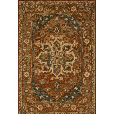 Watertown Wool Brown Area Rug Rug Size: 79 x 99