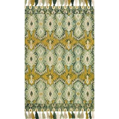 Farrah Blue/Green Area Rug Rug Size: 36 x 56