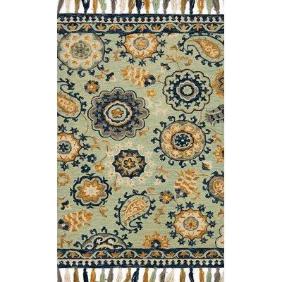 Farrah Blue Area Rug Rug Size: 79 x 99