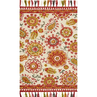 Farrah Pink/Beige Area Rug Rug Size: Rectangle 36 x 56