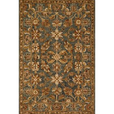 Victoria Gray/Brown Area Rug Rug Size: 5 x 76