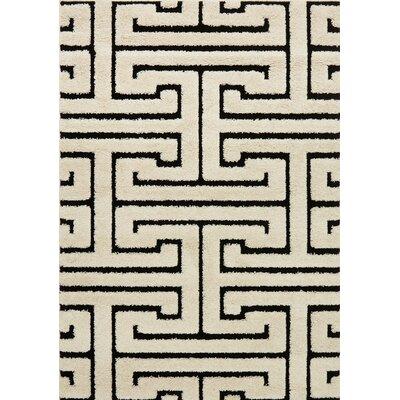 Enchant White/Black Area Rug Rug Size: 310 x 57