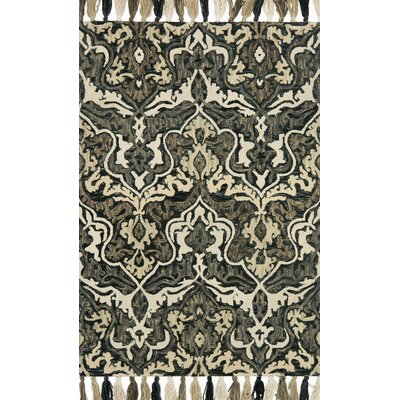 Farrah Black/Brown Area Rug Rug Size: Rectangle 5 x 76