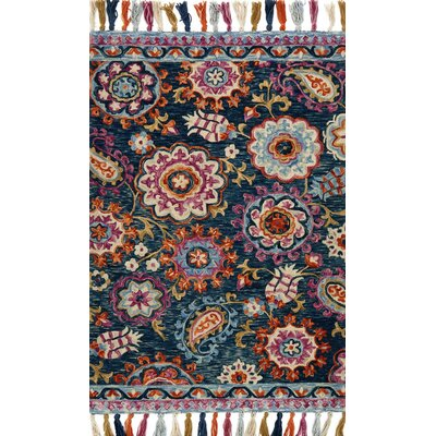 Zambrana Blue Area Rug Rug Size: Rectangle 79 x 99