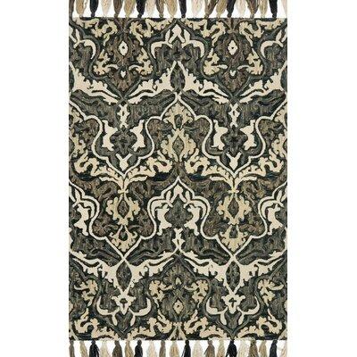 Farrah Black/Brown Area Rug Rug Size: 5 x 76