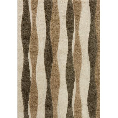 Enchant Beige Area Rug Rug Size: 53 x 77