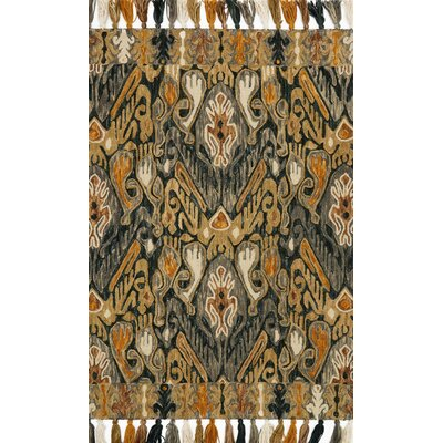 Farrah Gray/Brown Area Rug Rug Size: 23 x 39
