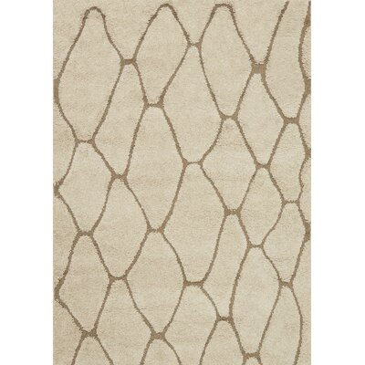 Dania Beige Area Rug Rug Size: Rectangle 77 x 106