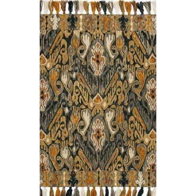 Farrah Gray/Brown Area Rug Rug Size: 36 x 56
