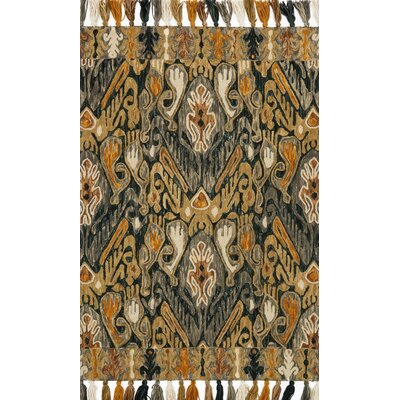 Farrah Gray/Brown Area Rug Rug Size: 79 x 99