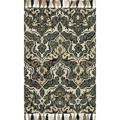 Farrah Black/Brown Area Rug Rug Size: 79 x 99
