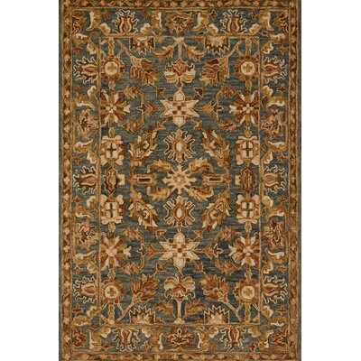 Victoria Gray/Brown Area Rug Rug Size: 36 x 56