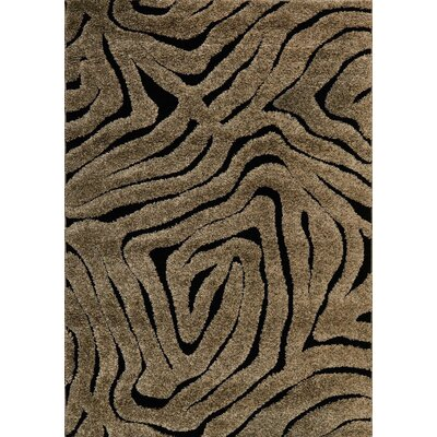 Enchant Brown/Black Area Rug Rug Size: 310 x 57