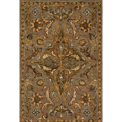 Victoria Gray/Brown Area Rug Rug Size: 93 x 13