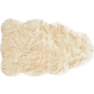 Panella Faux Sheepskin Beige Area Rug Rug Size: Rectangle 2 x 3
