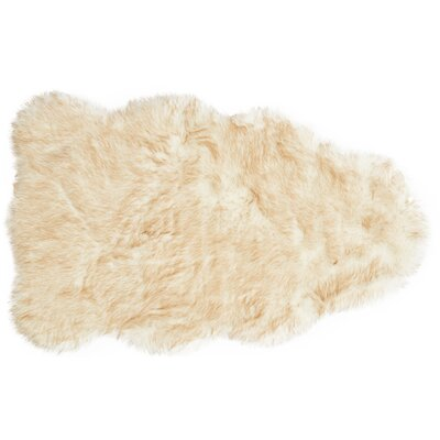 Panella Faux Sheepskin Beige Area Rug Rug Size: Rectangle 3 x 5