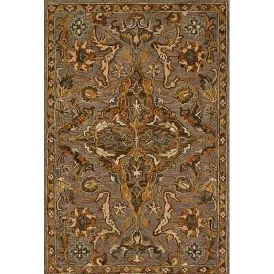 Victoria Gray/Brown Area Rug Rug Size: 23 x 39