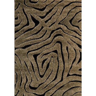 Enchant Brown/Black Area Rug Rug Size: Square 77