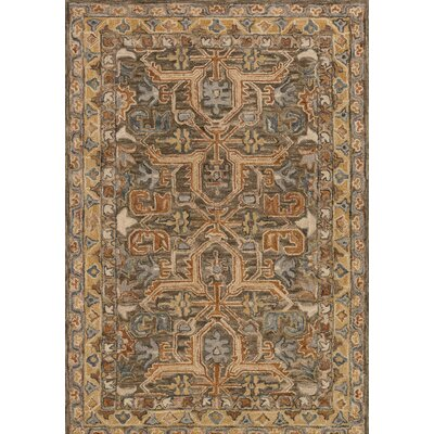Victoria Brown Area Rug Rug Size: 36 x 56