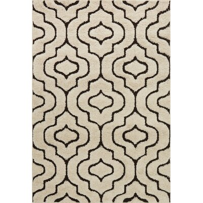 Dania Beige/Black Area Rug Rug Size: Rectangle 53 x 77