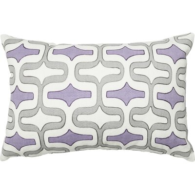 Cotton Lumbar Pillow Color: Gray/Plum